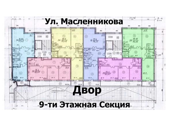 Планировки Жилой комплекс ЖУКОВКА - 2 - 3 подъезды