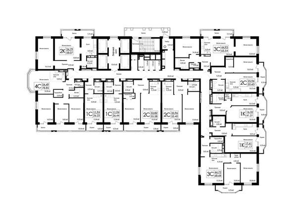 Планировки Жилой комплекс ДОМ НА БЕРЕЗОВОЙ РОЩЕ - Планировка 25 этажа