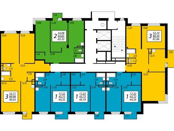 2 секция, 2,4 этажи