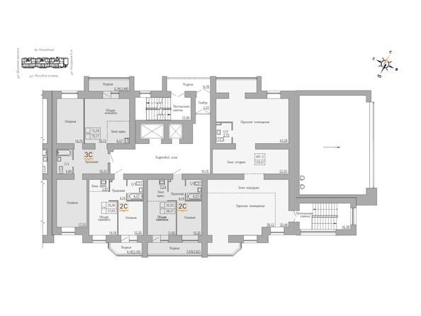 Блок-секция 1. Планировка 2 этажа