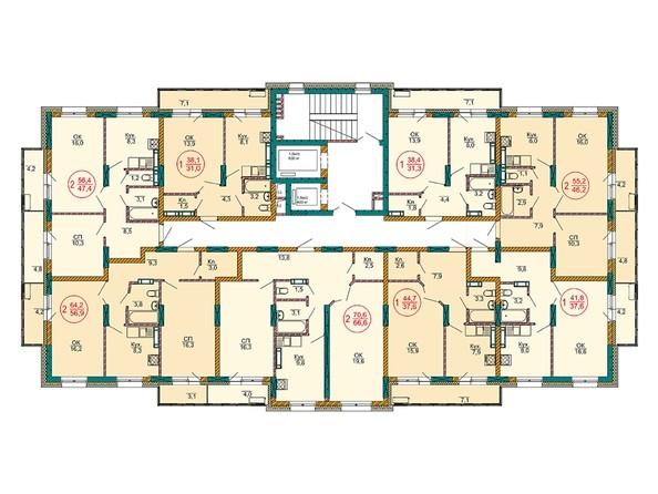 Планировки Жилой комплекс НОВЫЕ ЧЕРЁМУШКИ - Планировка 2 этажа