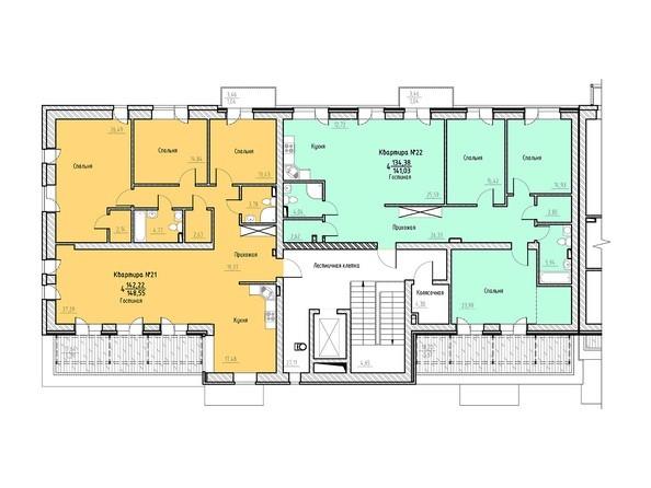 Планировка 7 этажа 1 подъезд