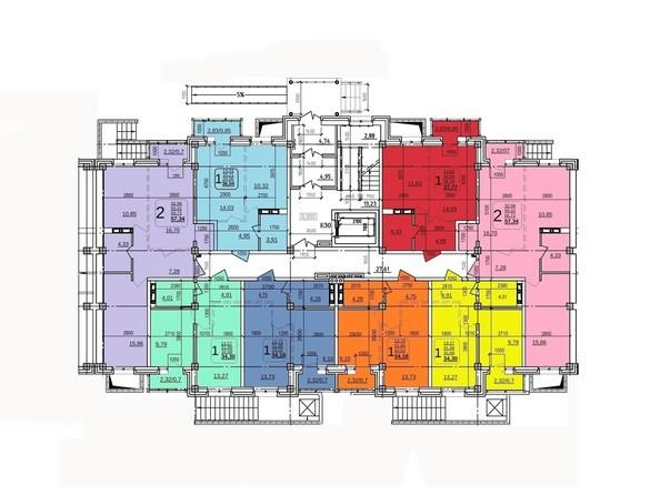 Планировки Жилой комплекс ИРКУТСКИЙ ДВОРИК-2, дом 2 (б/с 7,8,9) - Планировка 1 этажа