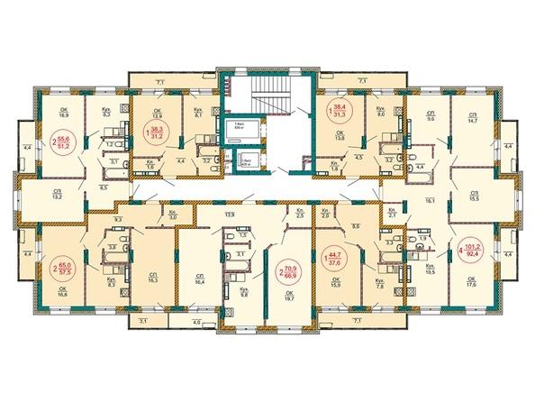 Планировки Жилой комплекс НОВЫЕ ЧЕРЁМУШКИ - Планировка 6-11 этажей