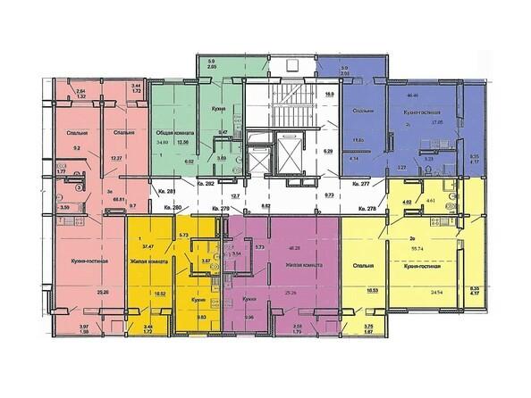 План 4-16 этажей, 3 б/с