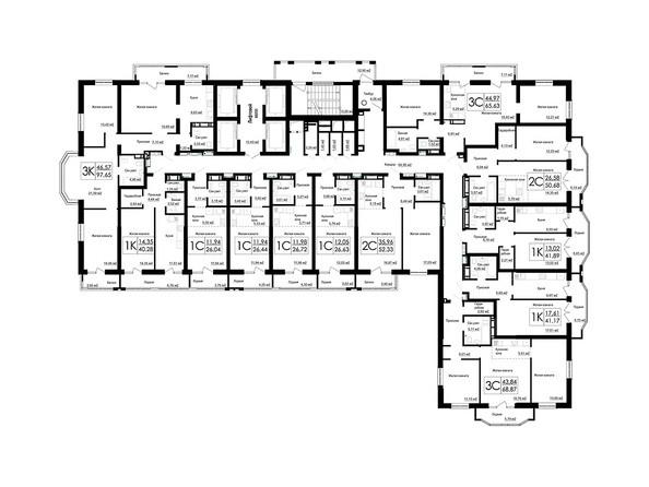 Планировки Жилой комплекс ДОМ НА БЕРЕЗОВОЙ РОЩЕ - Планировка 4-7 этажей