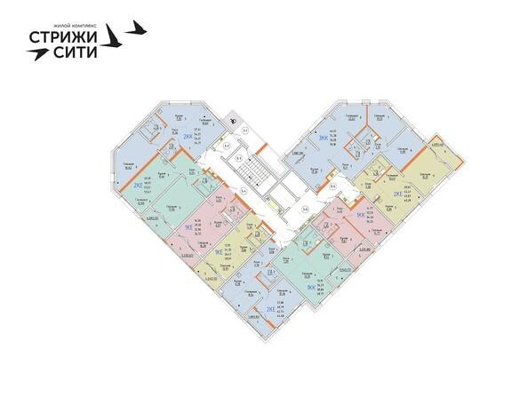 Планировки Жилой комплекс СТРИЖИ СИТИ, 1 оч - Планировка 3 этажа