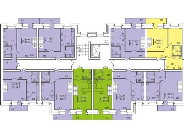 Планировки Жилой комплекс СНЕГИРИ, дом 3 - 3 секция 9 этаж (двухуровневые)