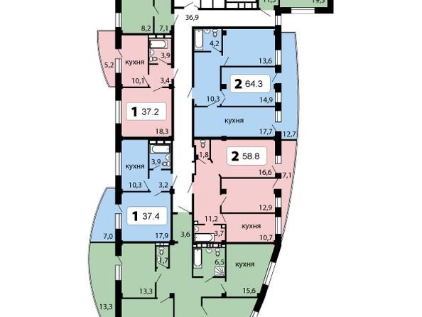 секция 3, 2-9 этаж