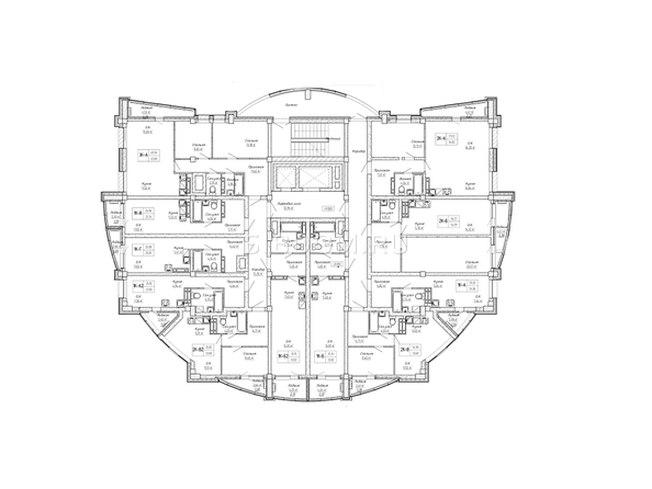 Планировки Жилой комплекс ДОМ НА СИБИРСКОЙ - Планировка 4-12 этажей