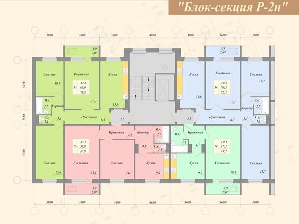 3 б/с. Планировка типового этажа