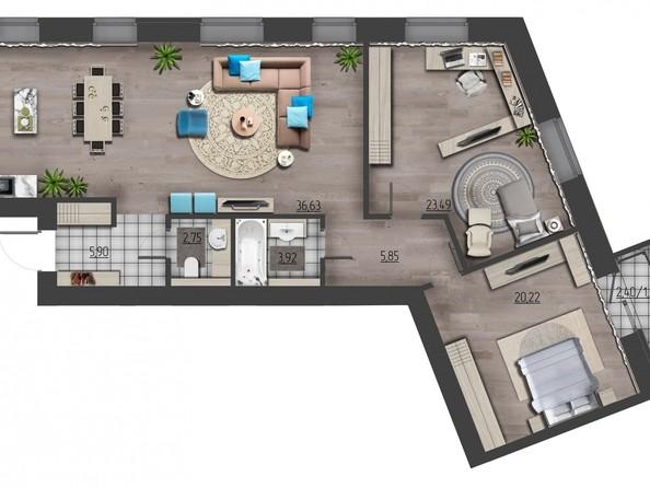 Продам 3-комнатную, 111.27 м², ПРЕОБРАЖЕНСКИЙ, дом 9. Фото 1.