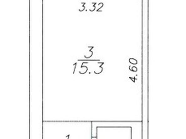 Продам 1-комнатную, 23 м2, 60 лет образования СССР пр-кт, 56. Фото 3.