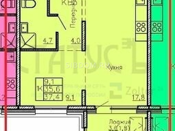 Продам 1-комнатную, 37 м², . Фото 1.