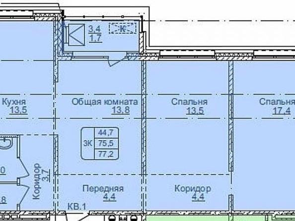 Продам 3-комнатную, 77.2 м², ЛАПЛАНДИЯ, дом 7. Фото 1.