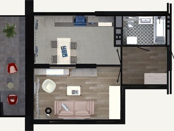 Продам 1-комнатную, 38.41 м2, Ипподромская ул, 50. Фото 1.