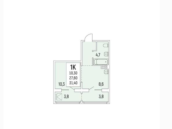 Продам 1-комнатную, 31.4 м2, Акация на Красногорской. Фото 2.