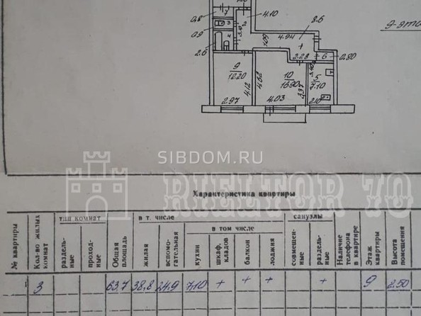 Продам 3-комнатную, 63.7 м2, 79 Гвардейской Дивизии ул, 20. Фото 14.