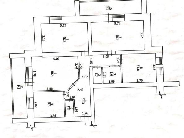 Продам 4-комнатную, 96.8 м², Солнечная ул, 23. Фото 3.